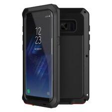 Samsung Galaxy S8 Shockproof Metal Rubber Hard Heavy Duty Bumper Case Cover BLK