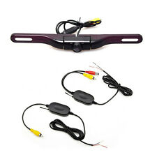 5LED HD 170° Car License Plate Mount Wireless Rear View Reverse Backup Camera