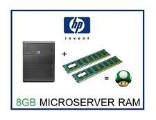 8GB (2X4GB) DDR3 MEMORIA ECC RAM UPGRADE 4 HP ProLiant MicroServer n36l N40L N54L