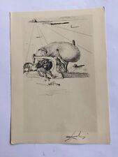 Salvador Dali  disegno 33,5 x 24 firmato timbro HOME OF SALVADOR DALI 1967  DF12
