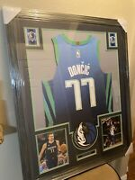 Luka Doncic Authentic Autograph Framed Jersey COA PSA NBA Mavericks ALL NBA