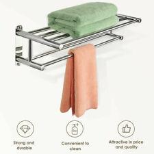 Us Wall Mounted Rail Double Towel Bar Holder Towel Rack Stainless Steel Bathroom