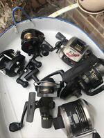 6 Old Fishing Reels
