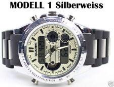 Relojes de pulsera digitales de plata de luz