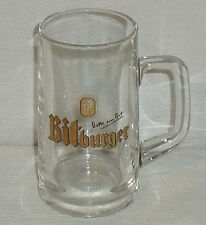 "Bitburger Beer Stein Glass Mug Cup 0.3L Vtg 5.25"" Germany"