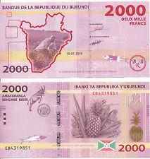 Burundi - 2000 Franchi 2015 UNC - Pick Nuovo
