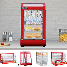 More details for commercial food warmer display hot foods catering pizza pie heated cabinet case