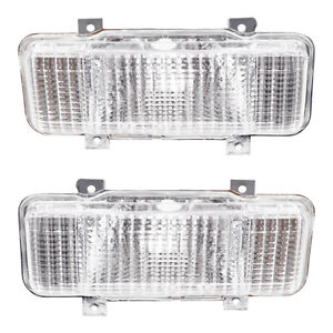 Park Signal Lights Set fits 1980 Chevy GMC SUV Pickup Truck Front Marker Lamps