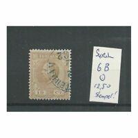 Suriname 6B  Willem III 1873 VFU/gebr  CV 12,0 €  STEMPEL !!!
