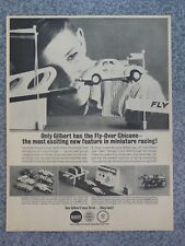 Vintage 1963 Ac Gilbert Chicane 40 Ford Trotters 1/32 Slot Car Advertisement