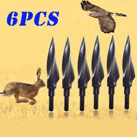 150 Grain Archery Arrowheads Broadheads Hunting Tips Screw Arrow Points Steel BA