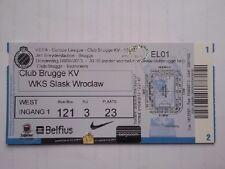 Ticket CLUB BRUGGE - SLASK WROCLAW 2013/14 Europa League Belgium Poland België