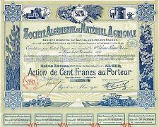 AFRICA ALGERIA AGRICULTURE EQUIPMENT COMPANY stock certificate 1928