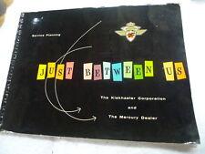 VINTAGE ORIGINAL 1956 MERCURY OUTBOARD NEW DEALER HANDBOOK