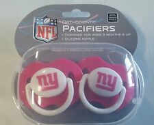 New York Giants PINK Baby Infant Pacifiers NEW - 2 Pack SHOWER GIFT! girls