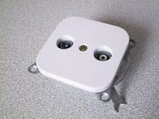 KOPP Antennendose TV-RF Dose DONAU arktis-weiss UP Unterputz Antennen 2-Loch