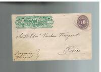 1886 Mexico Wells Fargo Express Mail Cover 10 Centavos