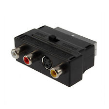 RGB Scart a 3 RCA S-VIDEO Audio AV Adattatore TV