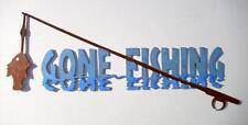 Gone Fishing, Sign, Fisherman, Cabin, Lodge, Metal Art, Fishing Wall Art, Gift