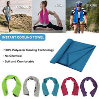 Sports Instant Cooling Towel Ice Cold Enduring Running Jogging Gym Chilly Pad US