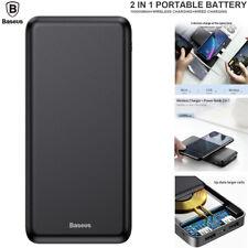 Baseus 10000mAh Power Bank Wireless Charger Portable Dual USB External Battery
