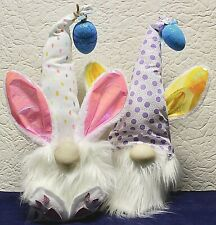 New! Two (2) Handmade Easter Bunny Gnome with Weighted Bottom.