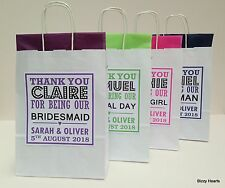 PERSONALISED PAPER WEDDING FAVOUR PARTY GIFT BAG