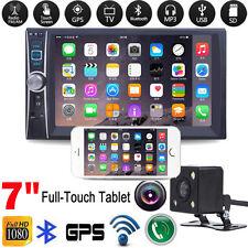 "Double 2Din 7"" Car GPS Stereo MP3 MP5 Player Bluetooth FM Radio USB + Camera"