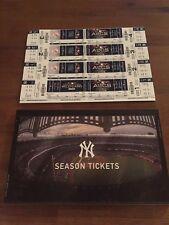 2018 NY Yankees Complete, Unused Season Ticket Book 17 games Judge Stanton
