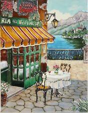 Mesa de 11x14 pulgadas para dos azulejos de cerámica/Placa De Pared Arte Imagen