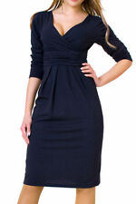 Viscose Long Sleeve Wiggle, Pencil Regular Dresses for Women