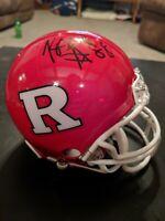 KENNY BRITT Signed Autograph Mini Helmet NCAA RUTGERS SCARLET KNIGHTS AUTO