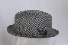 da7856e3645 Vintage BILTMORE Houndstooth Fedora Hat Made in Canada Sz 6-7 8