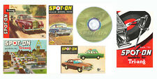 Spot-On Triang 1960's 1st 4th 5th 7th & 1958 Edition Catalogues on a quality DVD