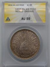 1898 Mo,AM Mexico Silver Peso Coin Original Strike ANACS AU 55 Problem Free