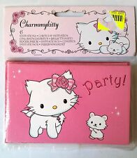A)lot 6 Cartes d'Invitation Neuves Official Hello Kitty Sanrio + enveloppes