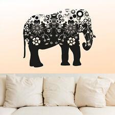 Wall Decal Vinyl Sticker  Mural Ganesh Om Elephant Flower Mandala  r678