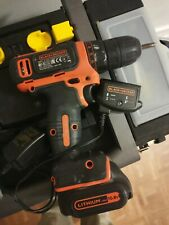 Black & Decker Cordless 10.8 V Drill with battery And charger .