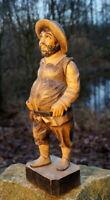 große Holzfigur Ouro Spanien Massivholz Sancho Pansa exklusive Künstlerarbeit