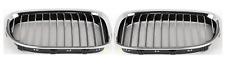 BMW 7 F01/02 (08-SET)  2x Griglia anteriore sinistro destro  Cromato Nero Nuovo!