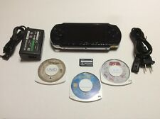 Sony PSP 1000 Value Pack Black Handheld System with 3 Games & Movies