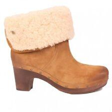 5dcfb3c34e2 Women's Sheepskin Upper Clog Boots | eBay
