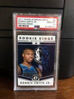 2017-18 Panini Donruss Optic Rookie Kings Dennis Smith Jr. Card #9 PSA 10
