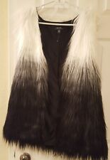 Faux Fur Sleeveless Jacket/ Vest by Kensie size L MSRP $119