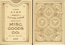 Misc. Goods Co. White v3 Playing Cards Poker Size Deck USPCC Custom Limited New