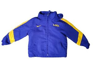 Nike LSU Tigers Toddler Zip Up Jacket With Hood 18 Months Blue