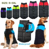 Pet Vest Jacket Warm Waterproof Pet Dog Clothes Small/Large Winter Padded Coat