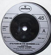 "FARON YOUNG - It's Four In The Morning - Ex Con 7"" Single Mercury 6052 140"