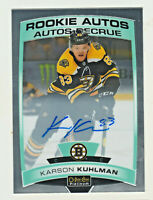 2019-20 OPC Platinum ROOKIE AUTOS #R-KK KARSON KUHLMAN RC Bruins ON CARD AUTO