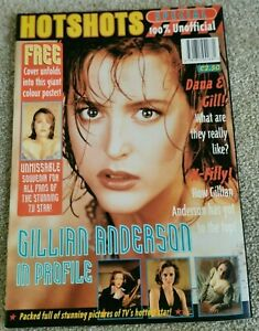 Gillian Anderson Hotshots Special Magazine X-Files Poster Mint Condition